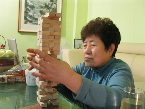 Jenga Mom Play